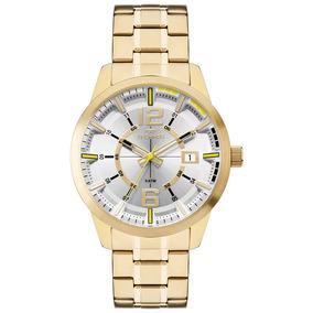 Relógio Technos Masculino Dourado Technos Liquida