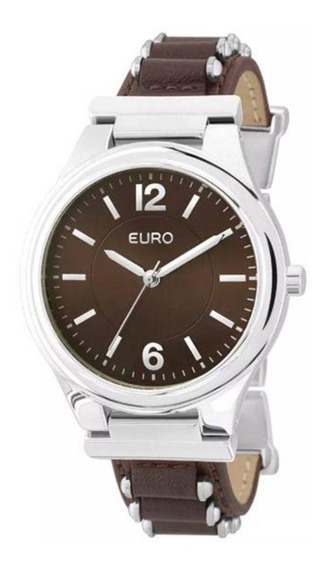 Relógio Feminino Euro Analógico Eu2035yky/3m - Prata/couro