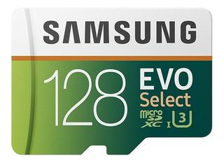 Memoria Microsd Samsung Evo Select 128gb 100mbs C10 U3 4k