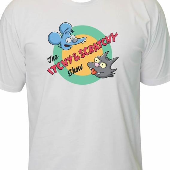 Camiseta Comichão E Coçadinha Simpsons Geek Nerd Retro
