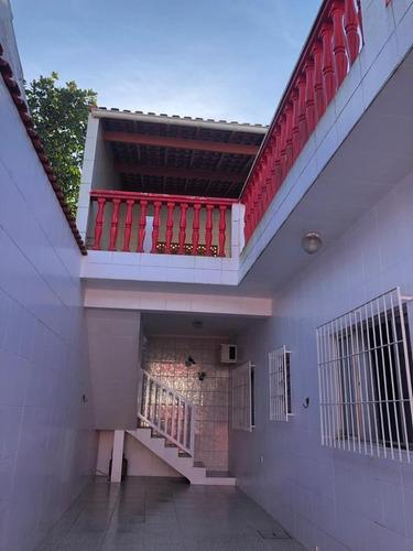 Linda Casa Com Churrasqueira Em Itanhaém - Ca327