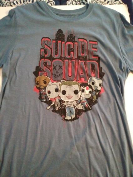 Funko Pop! Playera Suicide Squad Legion Of Collectors L