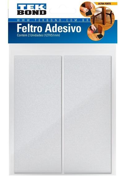 Feltro Protetor Adesivo Retangular 127 X 51mm Branco 2 Un.