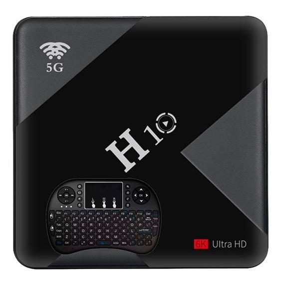 Aparelho Tv Box 6k 5g H10 6gb Ram Ddr3 / 64gb Rom + Controle