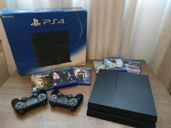 Playstation 4 (ps4) + 1tb + Jogos Midia Fisica