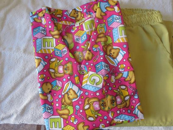 Ambos Pediatricos. Combinados Con Pantalon Color.