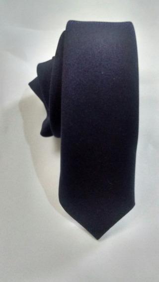 Kit 6 Gravatas Azul Marinho Fosco Slim