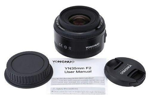 Lente 35mm Yongnuo Fotografo Profissional Show Para Canon