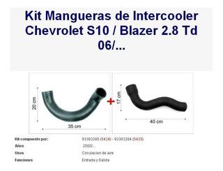 Kit Mangueras Intercooler Chevrolet S10 / Blazer 2.8 Td 06 /
