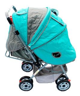 Coche Bebesitos Jm Reversible Con Cobertor Y Pañalera