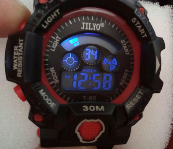 Relógio Digital Led Troca De Cor R-shock Alarme Cronometro