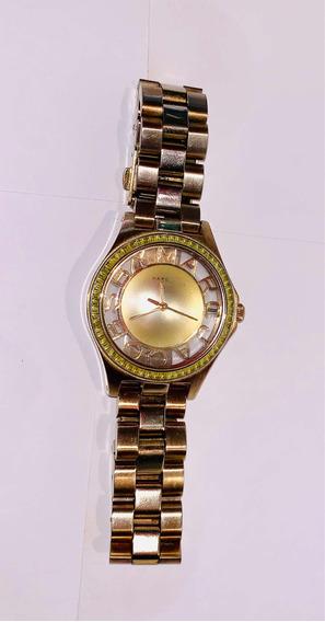Reloj Marc Jacobs Dorado Acero Inoxidable Con Cristales