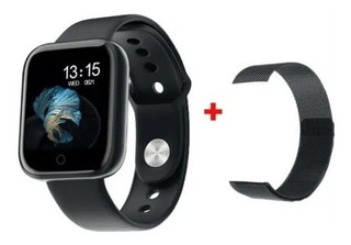 Relógio Inteligente Smartwatch T80 Preto Marca Passos