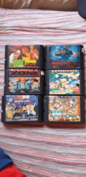 Lote Com 6 Jogos Para Mega Drive
