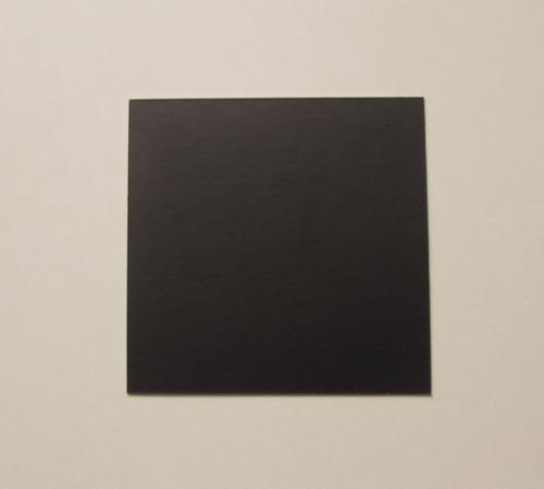 Imagen 1 de 1 de Base Cuadrada Ppm Mate 10x10 Cm (x100u) Negro Mármol - 120