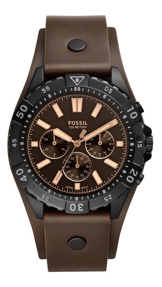 Relógio Fossil Masculino Fs5626/0pn Aço Bracelete Couro