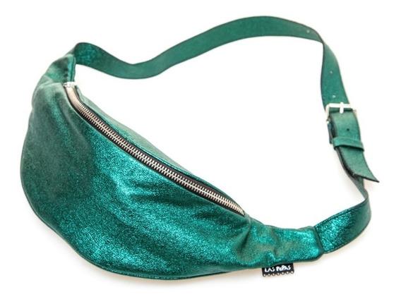 Riñonera Varanasi Metalizada Verde Las Pepas