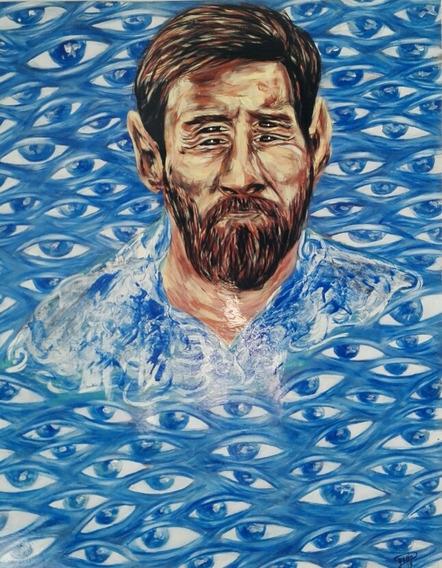 Leo Messi Arte Psicodelico