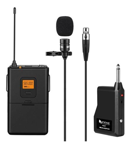 Sistema De Microfono Inalambrico Uhf Tipo Lavalier Mini Xlr