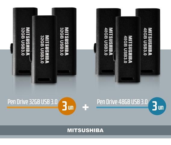 Kit Pen Drive 32gb 3pcs + 48gb - Usb 3.0 - 3pcs Mitsushiba