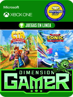 Crash Ctr + Team Sonic - Xbox One Modo Local + En Linea