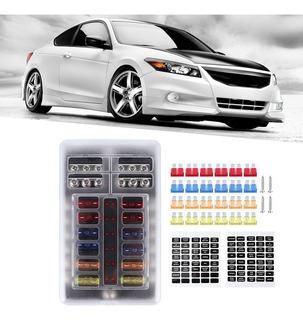 Fusibles piezas de autom/óviles 24pcs 8 Tipos Kind hoja grande de fusibles Surtido Set for el carro del coche de RV de fusibles el/éctricos Kit de accesorios