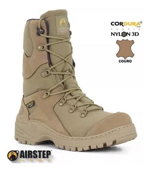 Bota Airstep 8600 Desert Coturno Militar Original De Couro