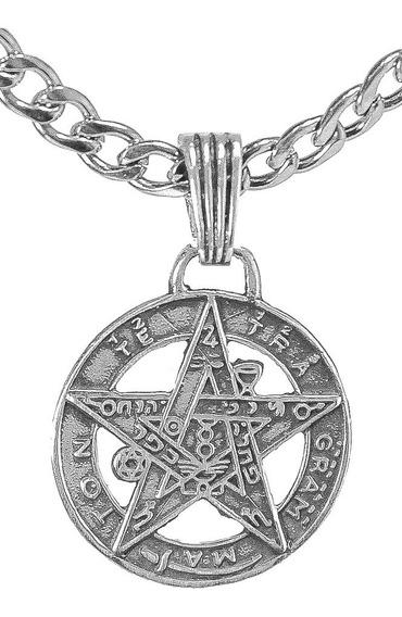 Medalla Tetragramaton Proteccion En Plata 2,5 Cm Art 09