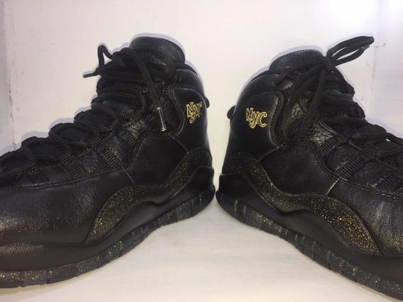 Tenis Air Jordan X Retro 310806-012 Nyc #24 Customizados