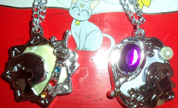 Lote Colar Raro Sailor Moon Uranus E Neptune Marcador Página