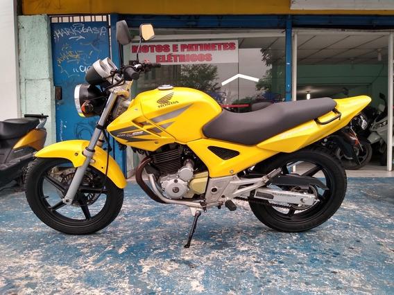 Honda Cbx 250 Twister 2007 Amarela Troca Financia Cartão