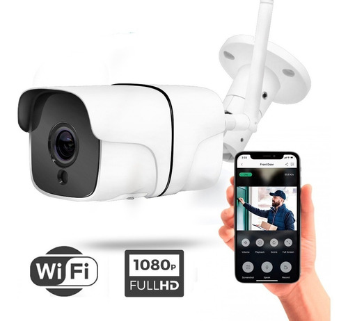 Cámara Wifi Ip Full Hd 1080p Bullet Exterior Audio