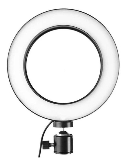 Iluminador Led Ring Light Maquiagem Make Fotos Selfie Usb