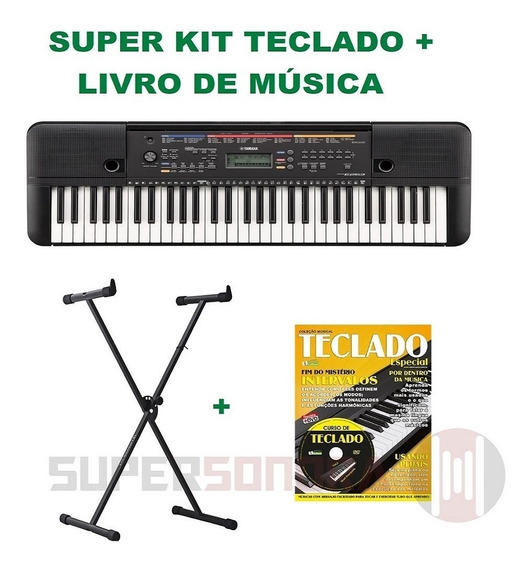 Kit Teclado Arranjador Yamaha Psr-e263 + Livro Música C/ Dvd