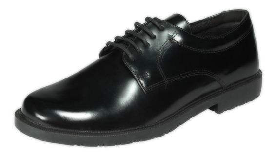 Sapato Social Marinha Tático Masculino Preto Militar 45 Á 49