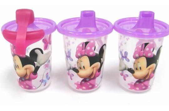 Set 3 Vasos De Minnie Mouse Disney 10oz / 296ml