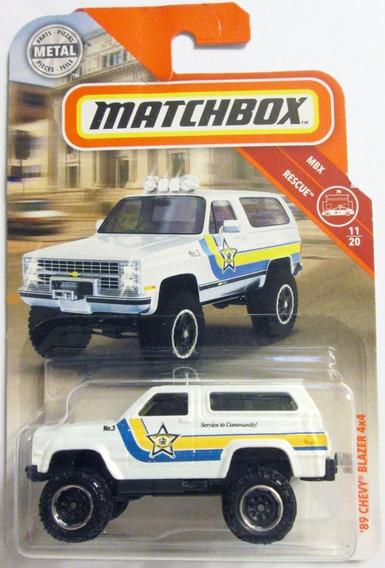 Matchbox 2019 - ´89 Chevy Blazer 4x4 Escala 1/64 Mide 7,5 Cm