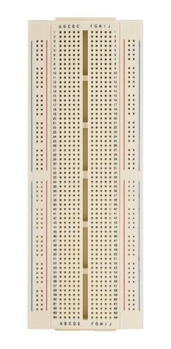 Imagen 1 de 3 de Protoboard Steren 1 Bloque 2 Tiras 840 Puntos