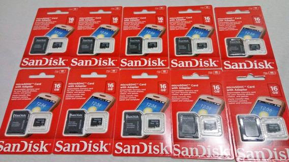 10 Cartão De Memória 16gb Sandisk Original