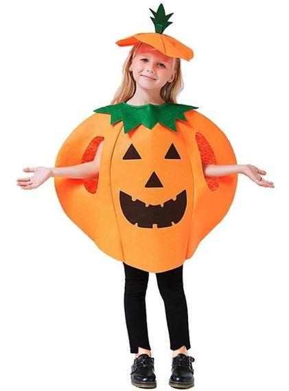 Disfraz De Calabaza Para Niños Y Niñas, Halloween
