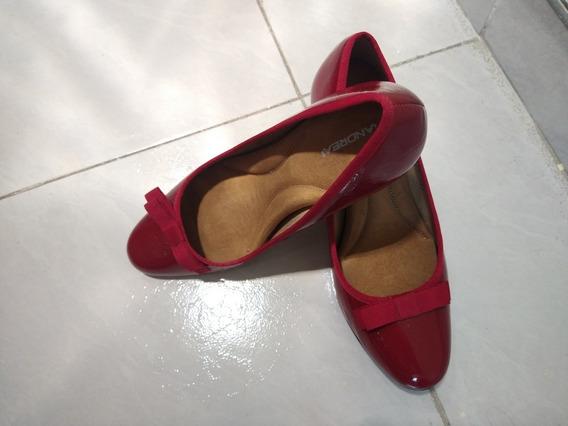 Zapatos Rojos Bonitos Seminuevos, Un Solo Uso Del 4 1/2