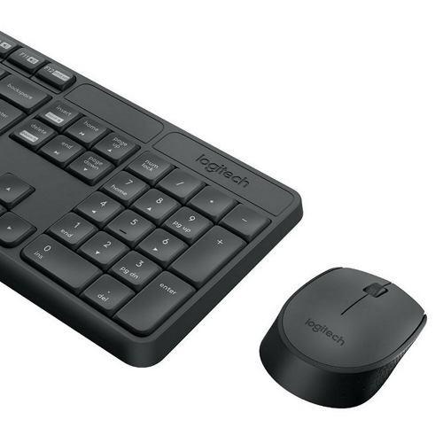 Teclado Mouse Inalambrico Kit Logitech Mk235 Combo Español