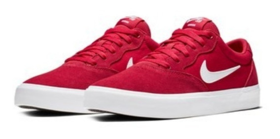 Zapatillas Nike Sb Chron Solarsoft 600 Gamuza + Canvas Rojo