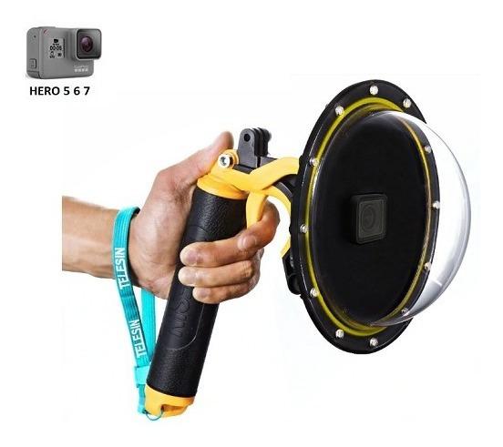 Dome Gopro Hero 5 6 Black 6 Polegadas + Caixa Estanque