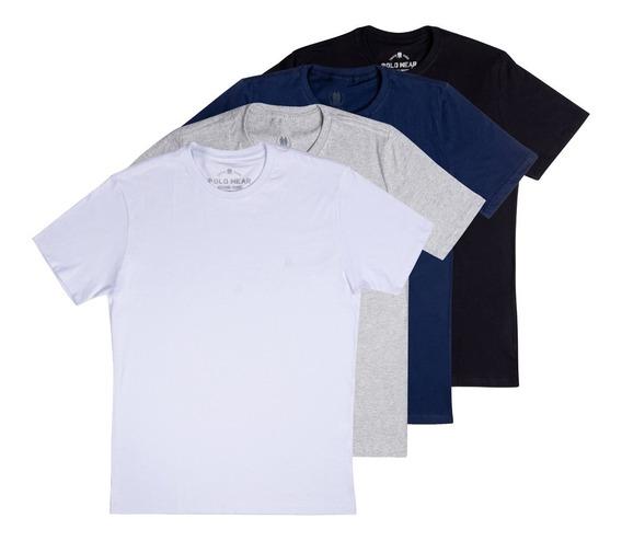 Polo Wear Kit 4 Camiseta Liso