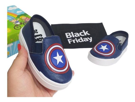Calçado Capitao America Promocao Infantil Macio Black Friday