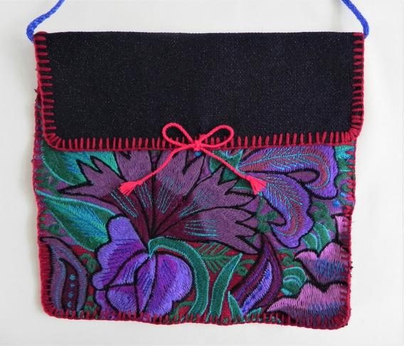 Bolsa En Bordado De Flores Artesanal Chiapaneco, Artes #4