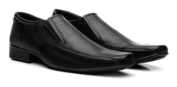 Sapatos Social Masculino Em Couro Fran Garcia Liso Preto