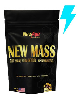 Top Whey Protein New Mass 100% 1kg Refil - New Age Nutrition