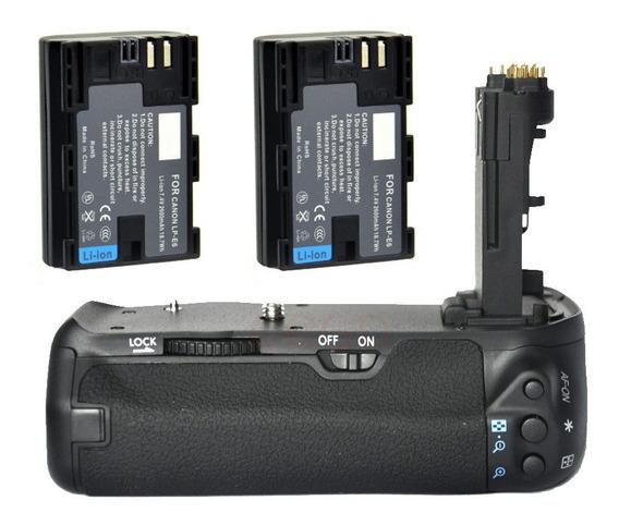 Grip Camera Camera Canon Eos 70d 80d 90d + 2x Baterias Lp-e6